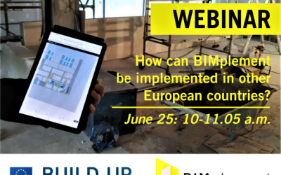 """BUILDUP Webinar """"How can BIMplement be implemented in other European countries?"""""""