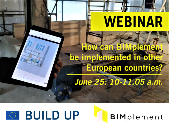 "BUILDUP Webinar ""How can BIMplement be implemented in other European countries?"""